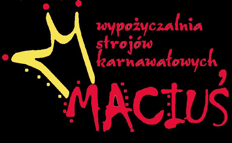 Logo wypożyczalni strojów karnawałowych Maciuś